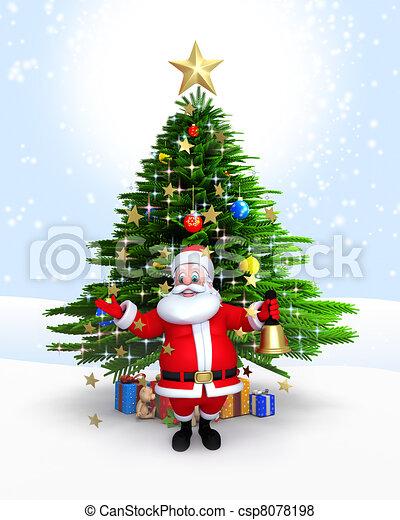 stock illustration von santa claus glocke weihnachten. Black Bedroom Furniture Sets. Home Design Ideas