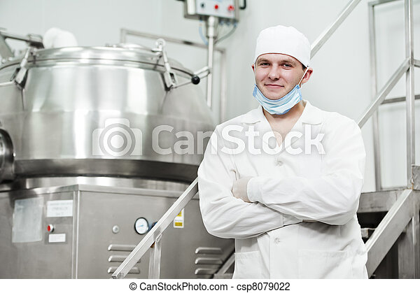 pharmaceutical factory worker - csp8079022