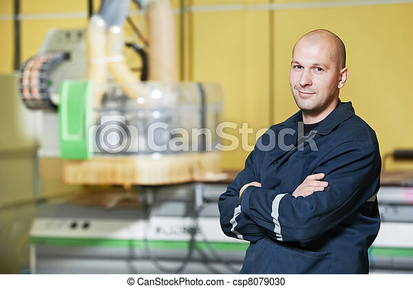 worker at tool workshop - csp8079030