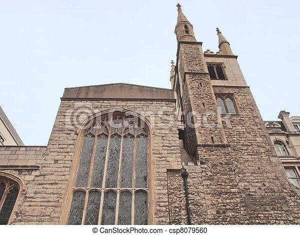 St Andrew Undershaft - csp8079560