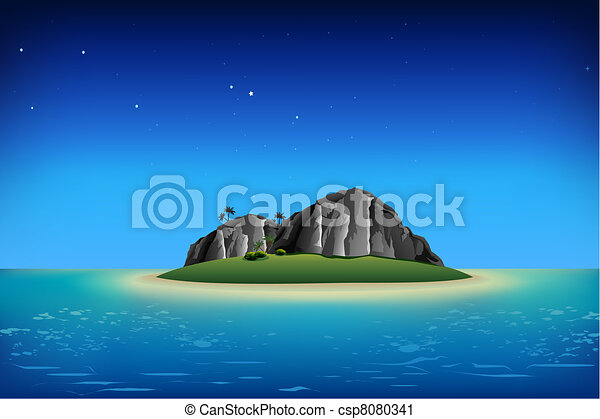Rocky Island - csp8080341