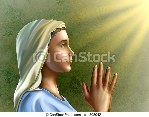 Woman Praying Clipart Praying Woman Csp8080421
