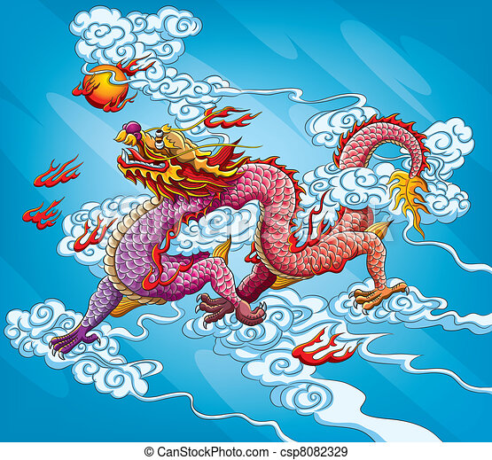 Chinese Dragon Painting - csp8082329