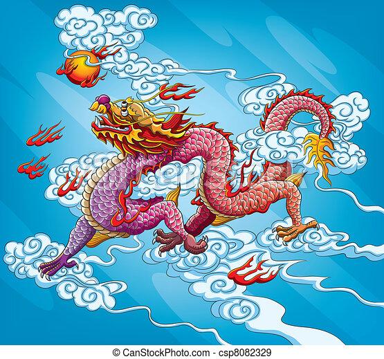 Chinese Dragon Painting - csp8082329