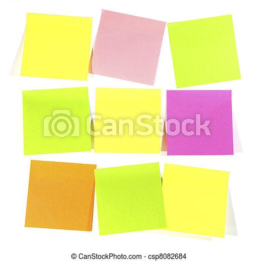 Postit  note - csp8082684