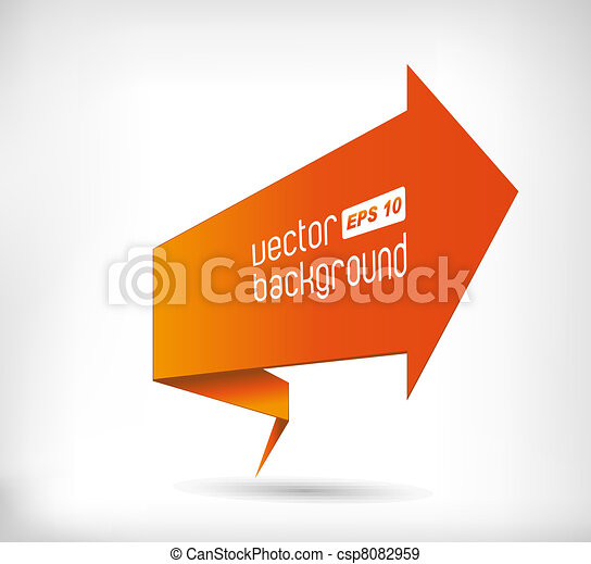 Abstract image of an orange arrow i - csp8082959