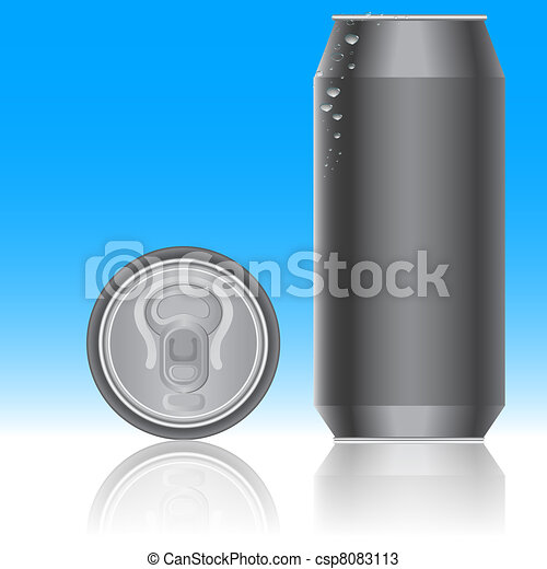 Aluminum packaging for beverages. Vector. - csp8083113