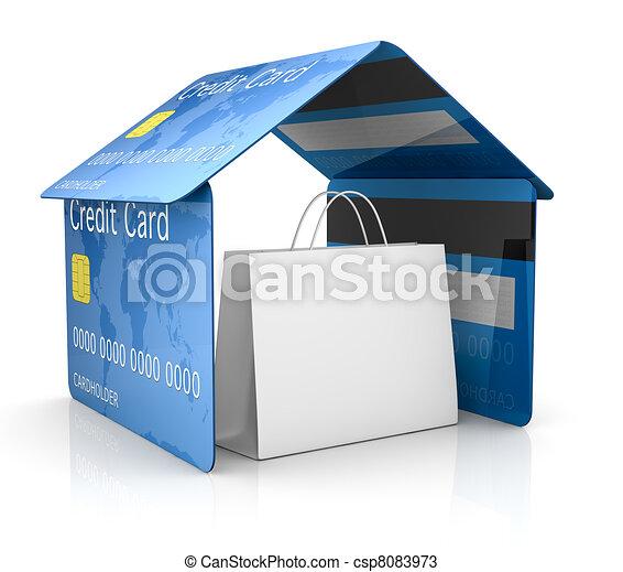 credit card security - csp8083973