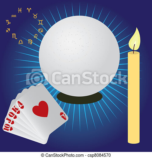 Items for fortune telling. - csp8084570