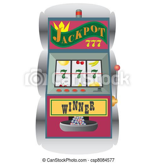Slot machine with winning combination. - csp8084577