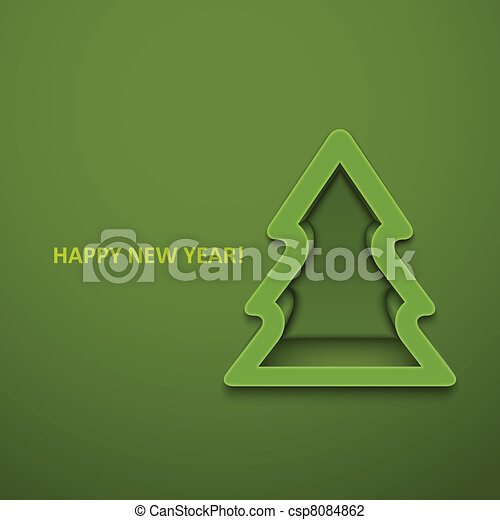 Christmas fur-tree. Vector illustration. Eps10 - csp8084862