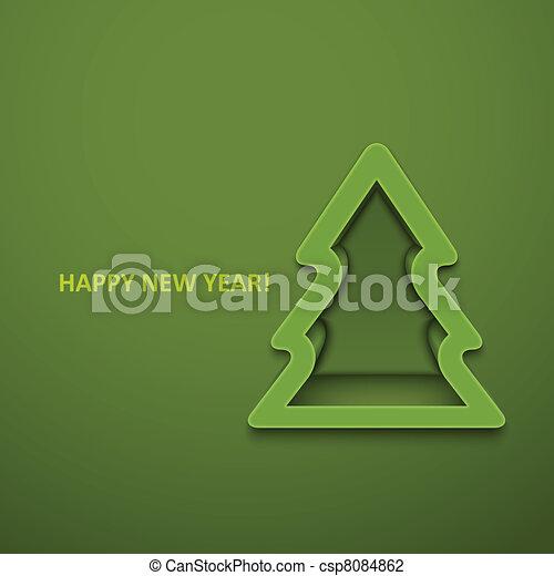 Christmas fur-tree. Vector illustration. Eps10 - csp8084862