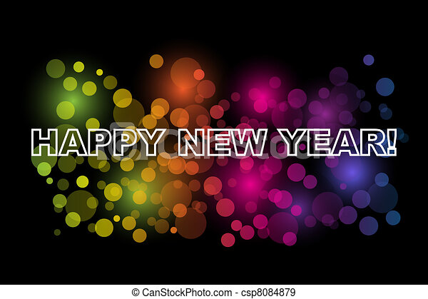 Happy New Year - csp8084879