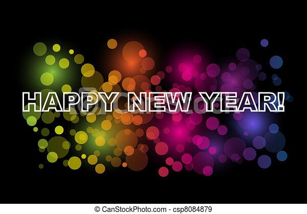 Happy New Year - csp8084879