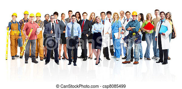 Group of industrial workers. - csp8085499