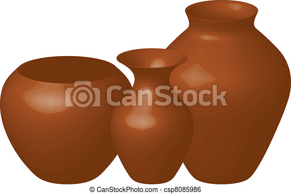 brown vases - csp8085986