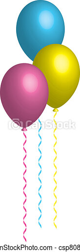 colorful balloons  - csp8086080
