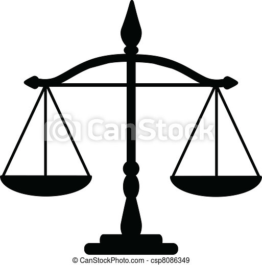 Vecteurs eps de justice balances vecteur illustration de justice csp8086349 - Dessin de balance ...