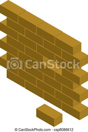 block wall - csp8086612