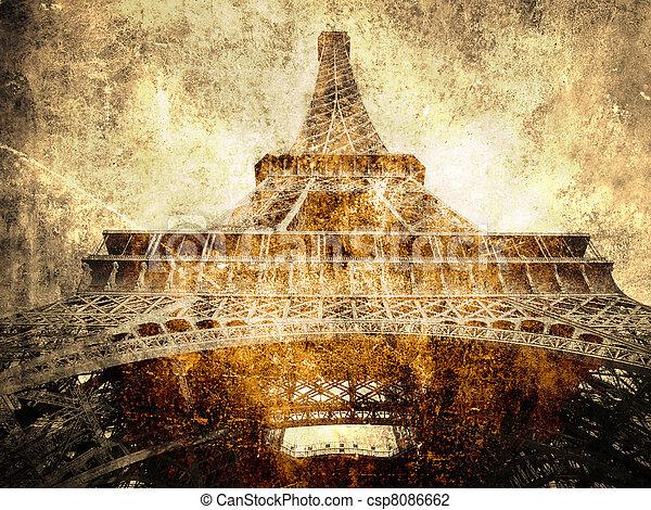 Eiffel tour- Paris symbol          - csp8086662