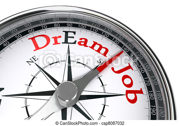 dream job the way indicated by concept compass - csp8087032
