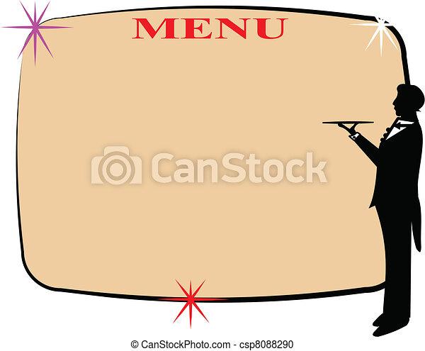 menu with copy space - csp8088290