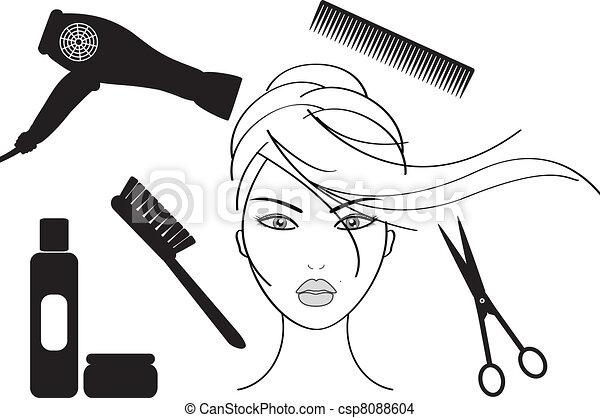 EPS vector de peluquería, salón csp8088604 - Buscar Clipart ...
