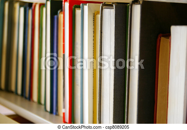 Library books in a row - csp8089205