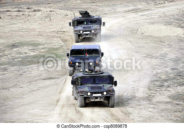 Military vehicles - csp8089878