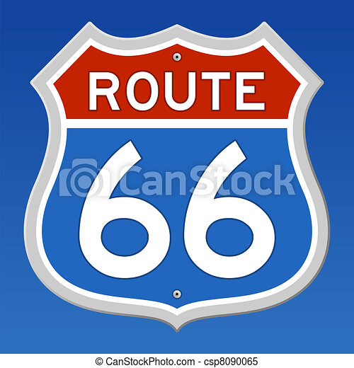 Route 66 Road Sign - csp8090065