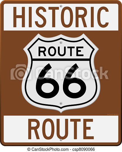 Historic Route 66 Sign - csp8090066