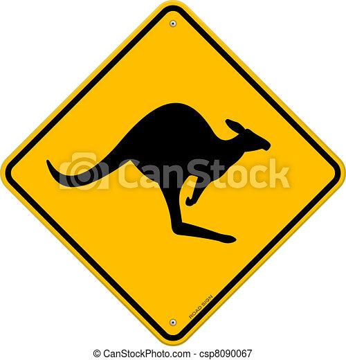 Kangaroo Sign - csp8090067