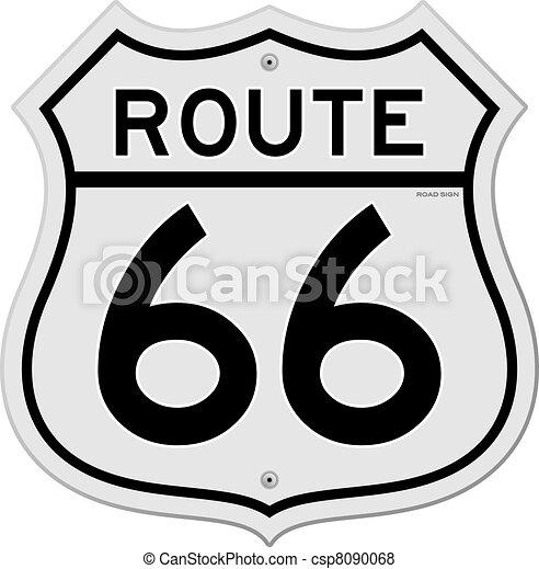 Route 66 Sign - csp8090068
