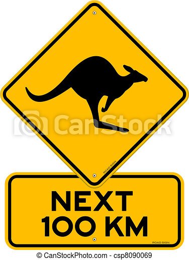 Kangaroo Sign - csp8090069