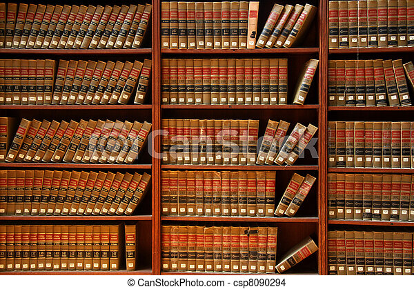 Law book library - csp8090294
