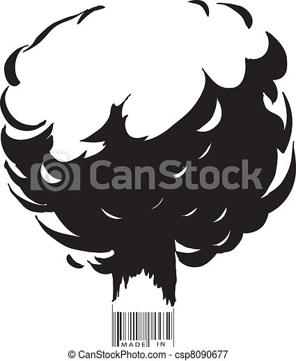 Explosion and bar code - csp8090677