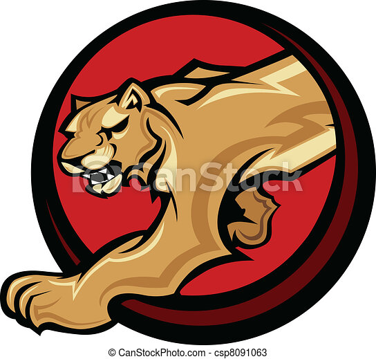 Cougar Mascot Body  Vector Graphic - csp8091063