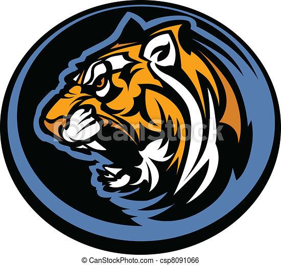 Tiger Mascot Graphic - csp8091066