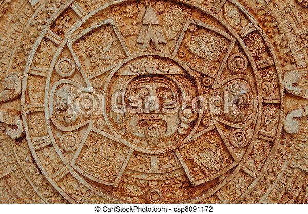 Mayan God Calendar - csp8091172