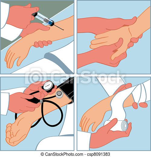 Hand medical procedures - csp8091383