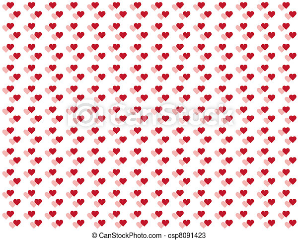 Seamless Pattern, Tiny Hearts - csp8091423