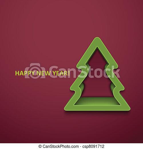 Christmas fur-tree. Vector illustration. Eps10 - csp8091712