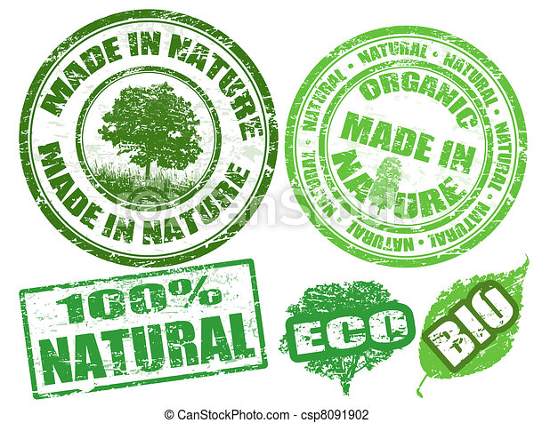 Made in nature stamps - csp8091902