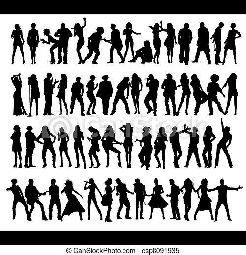 Vetor - Dançar, cantando, pessoas, Novo, jogo - estoque de ... Cantando In English
