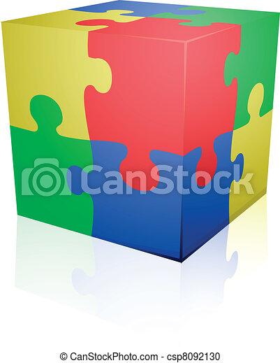 Jigsaw puzzle cube - csp8092130