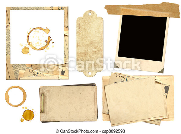 Collection elements for scrapbooking - csp8092593