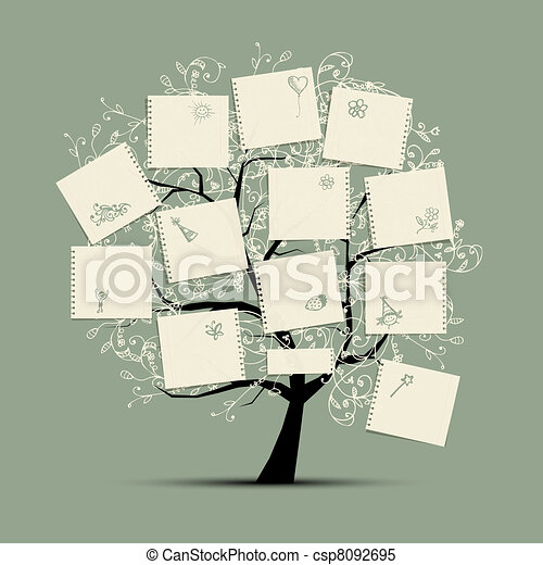 Wish tree for your design - csp8092695