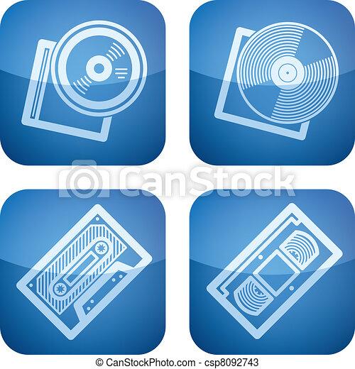 vecteurs de bureau fourniture ic nes ensemble part cobalt carr csp8092743. Black Bedroom Furniture Sets. Home Design Ideas