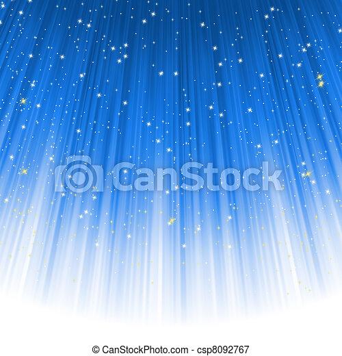 Stars descending on a path of blue light. EPS 8 - csp8092767