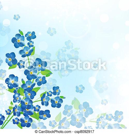 Nefelejcs, virág, háttér - csp8092917